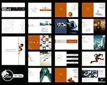 时尚企业宣传册设计PSD素材