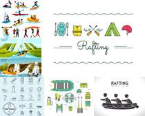夏日漂流活动设计矢量素材