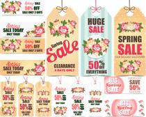 春季商场促销吊牌设计矢量素材