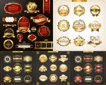 金色圆章标识标志矢量素材