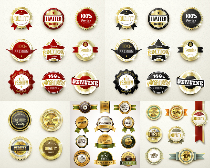 复古圆形徽章矢量素材 - 爱图网设计图片素材下载