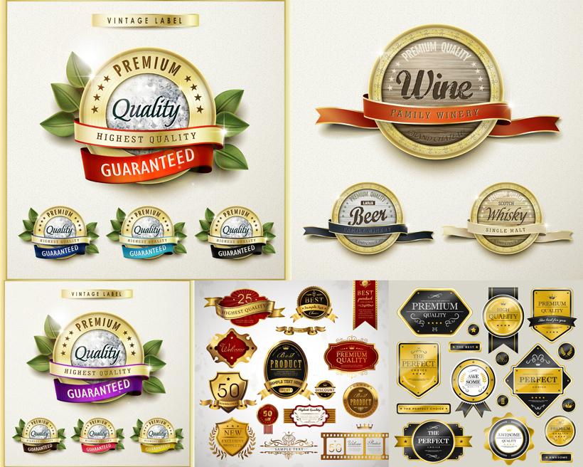 矢量素材 标识标志 > 素材信息   关键字: 圆形标识徽章丝带英语树叶
