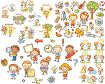 玩具木马卡通小朋友矢量素材
