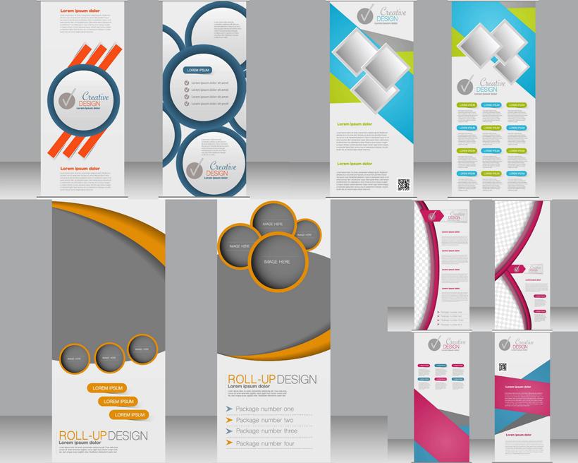 立式名片创意设计矢量素材