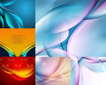 炫彩抽象线条设计矢量素材