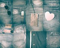 牛仔裤子展示摄影高清图片