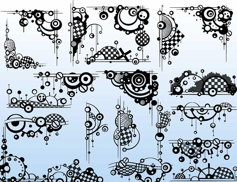 装饰边框笔刷素材