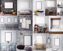 家居装修相框摄影高清图片