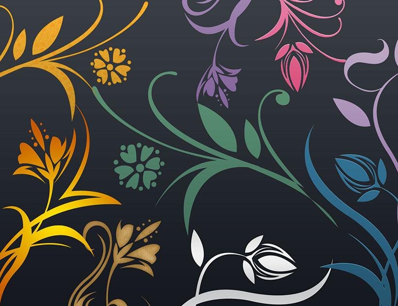 时尚花纹ps笔刷素材 - 爱图网设计图片素材下载
