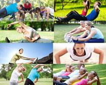 户外健身人物拍摄高清图片