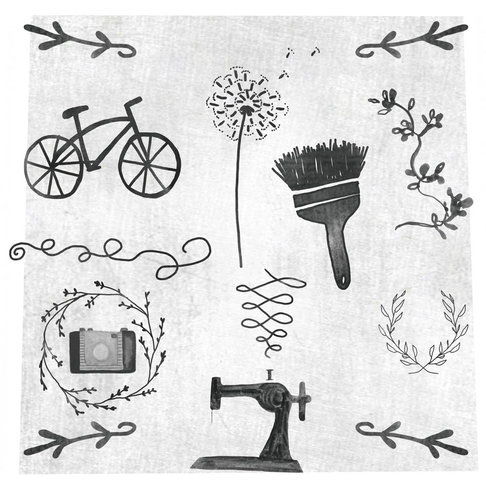 手绘涂鸦笔刷 - 爱图网设计图片素材下载