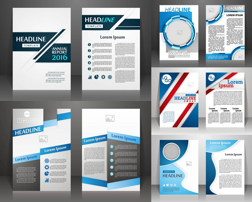 设计元素 > 素材信息   关键字: 封面书本多边形蓝色英文目录创意设计图片