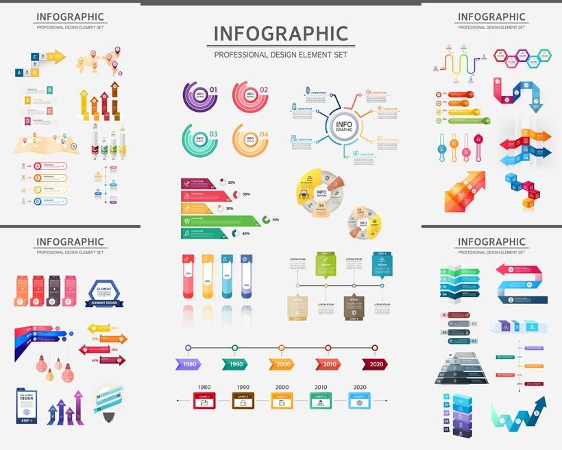 创意信息图标设计矢量素材