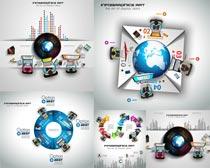 商务会议流程图表设计矢量素材