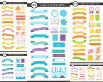 飘带丝带标签设计矢量素材
