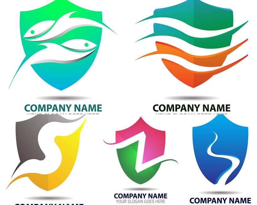 蓝色logo创意设计矢量素材