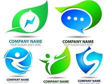 企业环保元素LOGO设计矢量素材