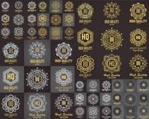 花纹圆章创意设计矢量素材