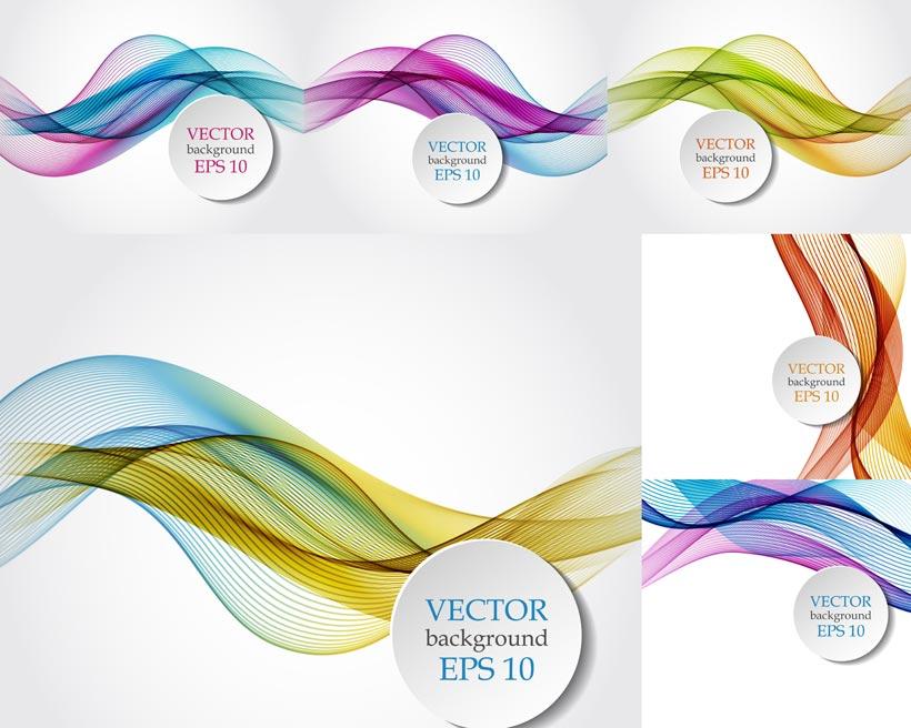 绚丽缤纷色彩抽象背景设计矢量素材