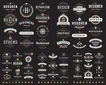 标识飘带创意设计矢量素材
