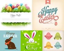 可爱的兔子彩蛋创意设计矢量素材