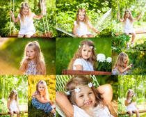 绿色植物小女孩摄影时时彩娱乐网站
