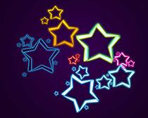 绚丽星星笔刷素材