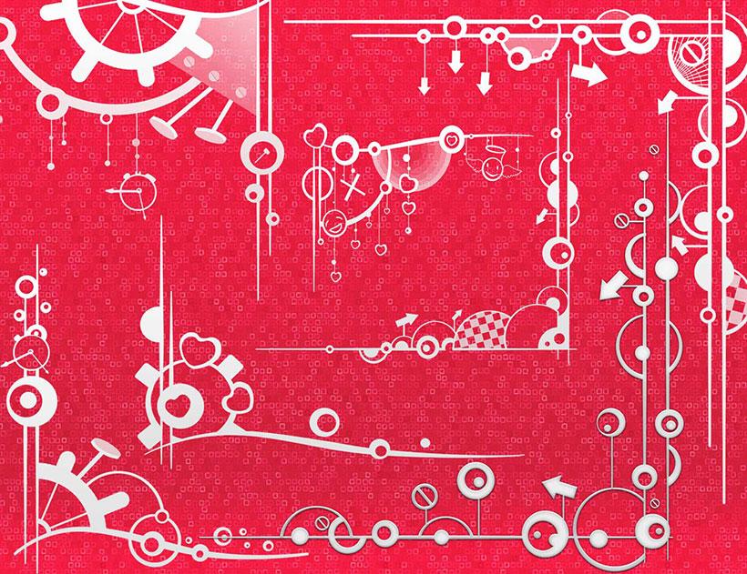 可爱边框笔刷素材 - 爱图网设计图片素材下载