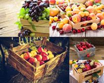 桃子葡萄樱桃摄影高清图片
