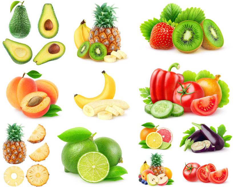 手绘水果蔬菜摄影高清图片