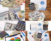 金融货币计算器摄影高清图片