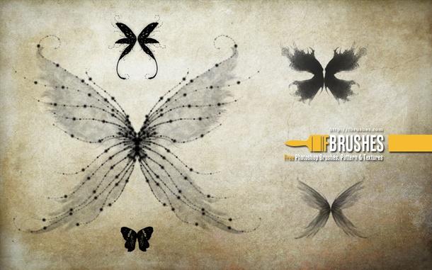 ps蝴蝶翅膀笔刷_蝴蝶的翅膀笔刷素材 - 爱图网设计图片素材下载