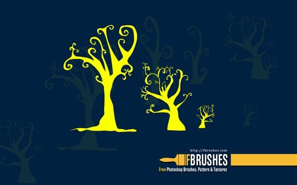 可爱的树枝树杈笔刷