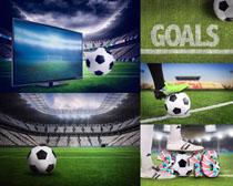 足球与场地摄影高清图片