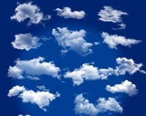 天空云彩云朵和白云PSD分层素材