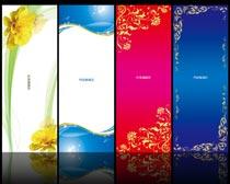 时尚花纹展板背景设计PSD素材