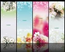 唯美花朵展板背景设计PSD源文件