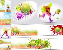 动感网球炫彩摄影高清图片
