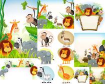卡通动物绘画摄影高清图片