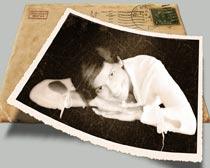 老照片撕纸边框效果PS动作