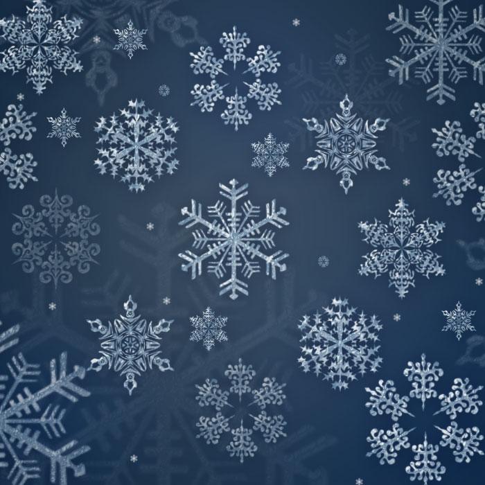 經典雪花圖案ps筆刷 - 愛圖網設計圖片素材下載