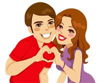 甜蜜的情侣图像矢量素材