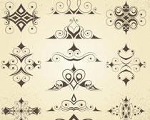 装饰花边图案矢量素材