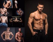 健身肌肉男人攝影高清圖片