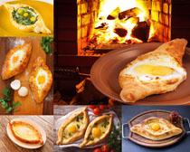 鸡蛋面包食物摄影高清图片