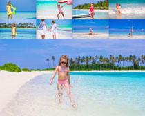 海边小女孩写真摄影高清图片