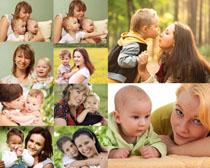 妈咪与婴儿宝宝摄影高清图片