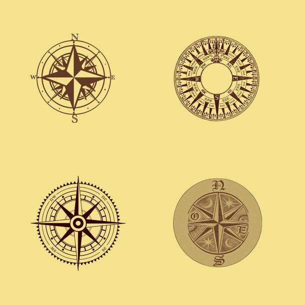 指南针笔刷 - 爱图网设计图片素材下载