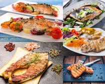 美食烧鱼摄影高清图片