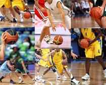 篮球比赛人物摄影高清图片